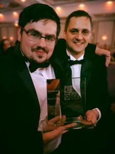 Andy Coy and Matt Bramley with the ERA Award